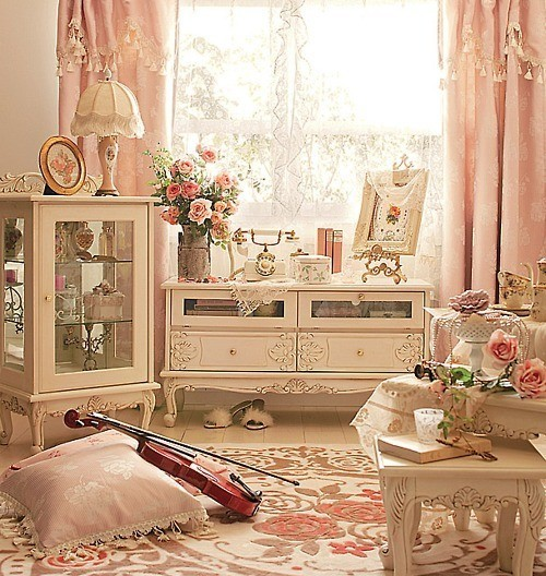Qu necesitas para lograr un look shabby chic toma for Decoration romantique
