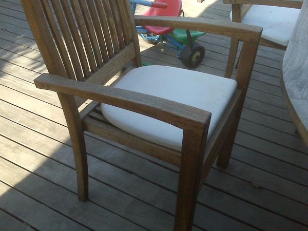 confeccin de cojines para sillas de jardn